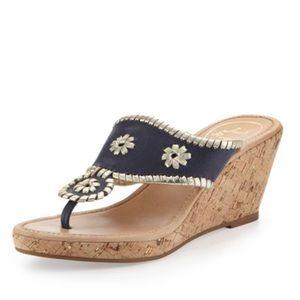 jack rogers / marbella wedge sandals navy